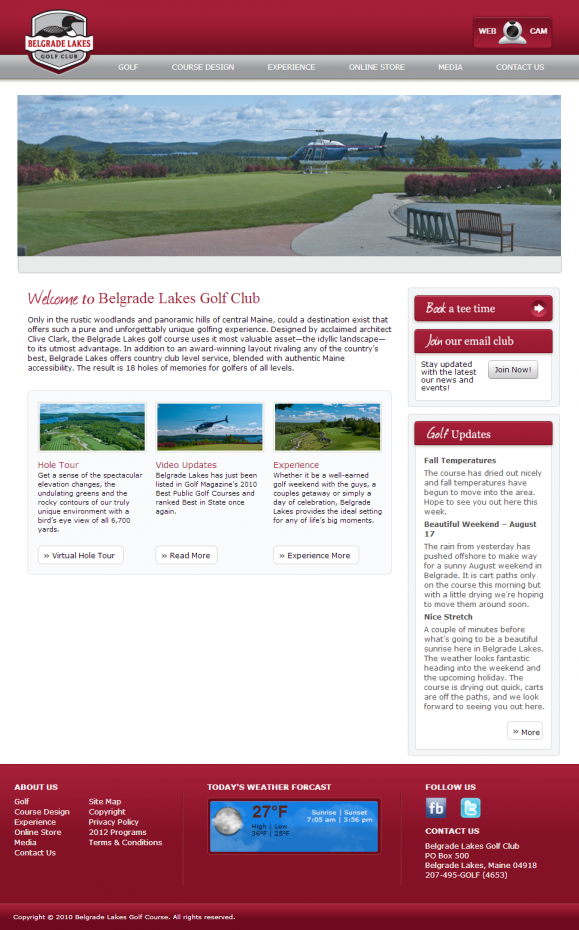 Belgrade Lakes Golf Homepage