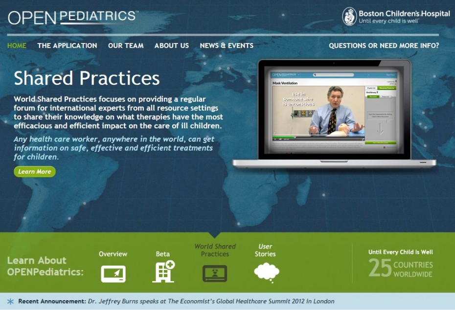 OpenPediatrics Desktop View