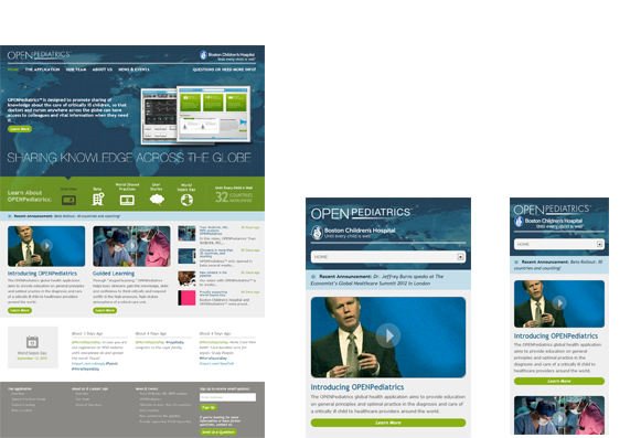 OpenPediatrics Responsive Views