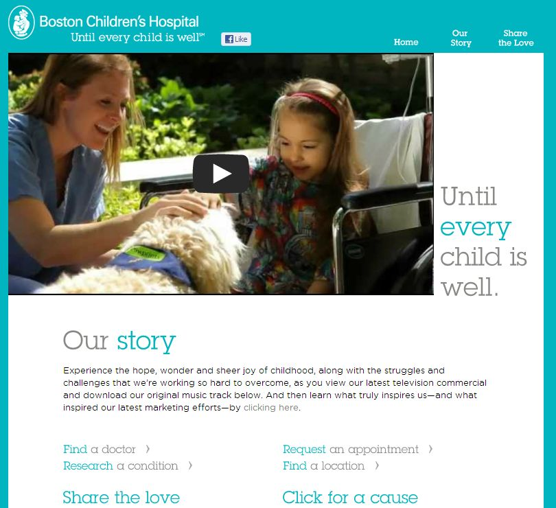 Until Every Child Microsite