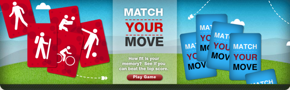 Healthmiles Match Your Move Homepage