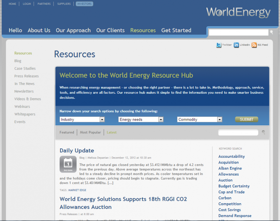 World Energy Resources Page