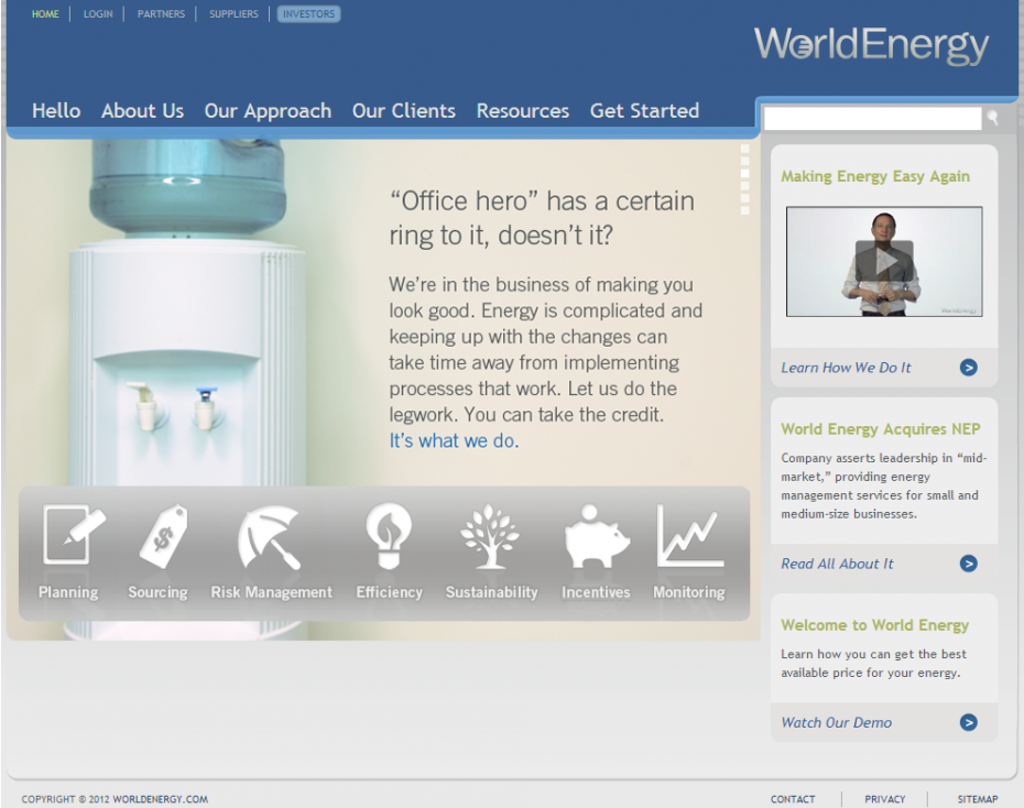 World Energy Homepage