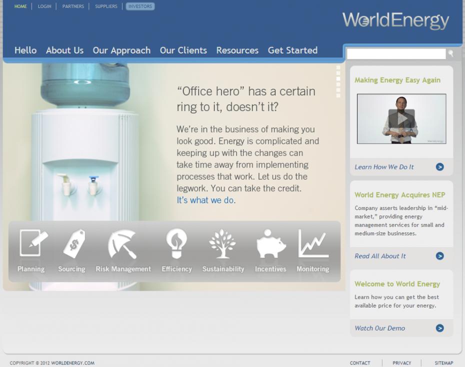 World Energy Homepage