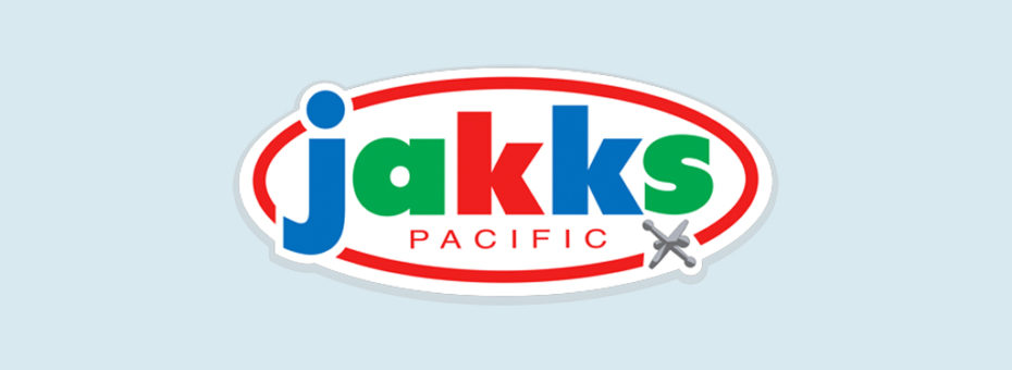 image of the jakks logo over a light blue background
