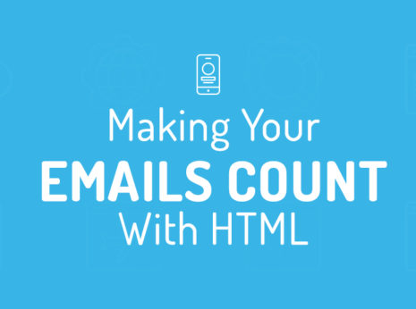 "text ""making your emails content"" on a blue background"
